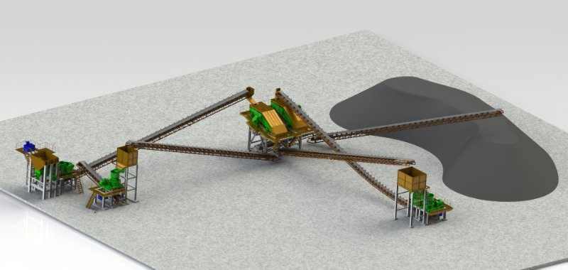 3D Engineering Design for Mineral Processing Project and Coal Washing Plant -7