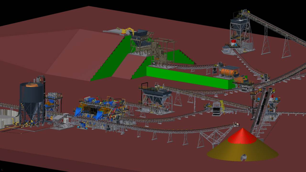 3D design of mineral engineering-HOT Mining