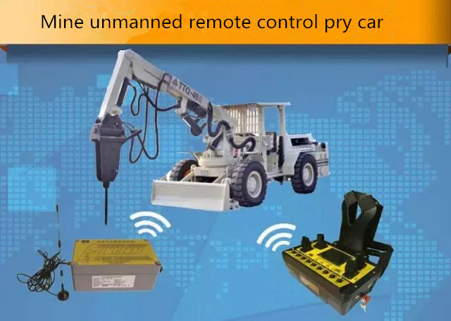 Mine unmanned remote control pry car-Beijing Hot Mining Tech Co.,Ltd