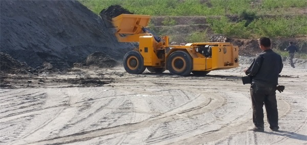 Application of two cubic scraper wireless remote control system-Beijing Hot Mining Tech Co.,Ltd