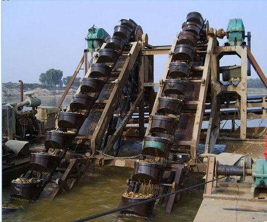 Bucket_ Chain_ Sand- Dredge_HOT_Mining